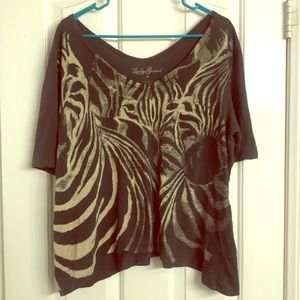 Lucky Brand off the shoulder t-shirt-XL